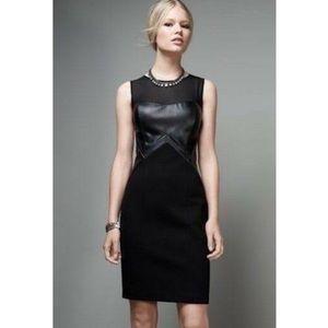Aidan Matrix Faux Leatherette Dress